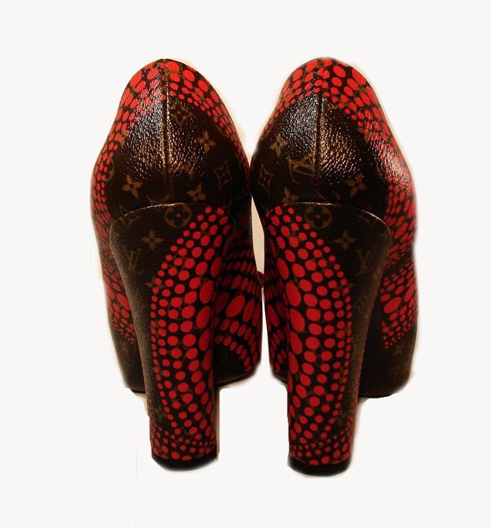 c51f39eabdfc Louis Vuitton Yayoi Kusama Pumpkin Dot Classic Pumps Heels Sz 38 Limited  Editio For Sale 1