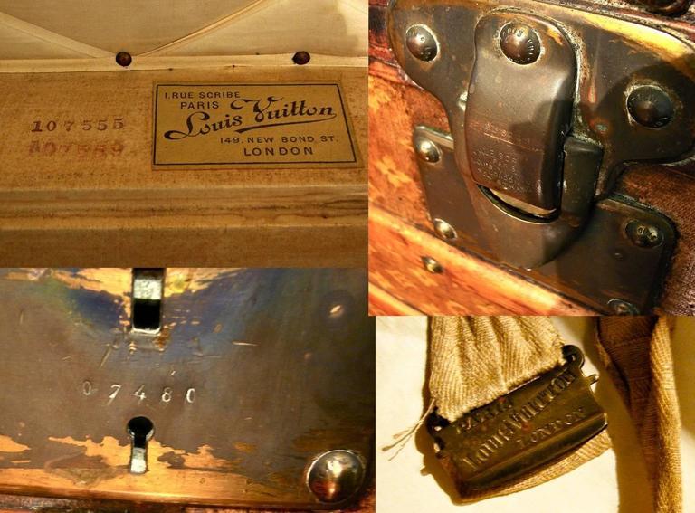 Louis Vuitton Monogram Haute Courier Large Steamer Trunk on Wheels 1900s  For Sale 3