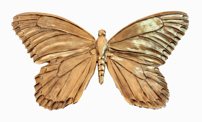 Christopher Ross Butterfly Belt Buckle 24ct Gold Plate Monumental 8in Long 80s 4
