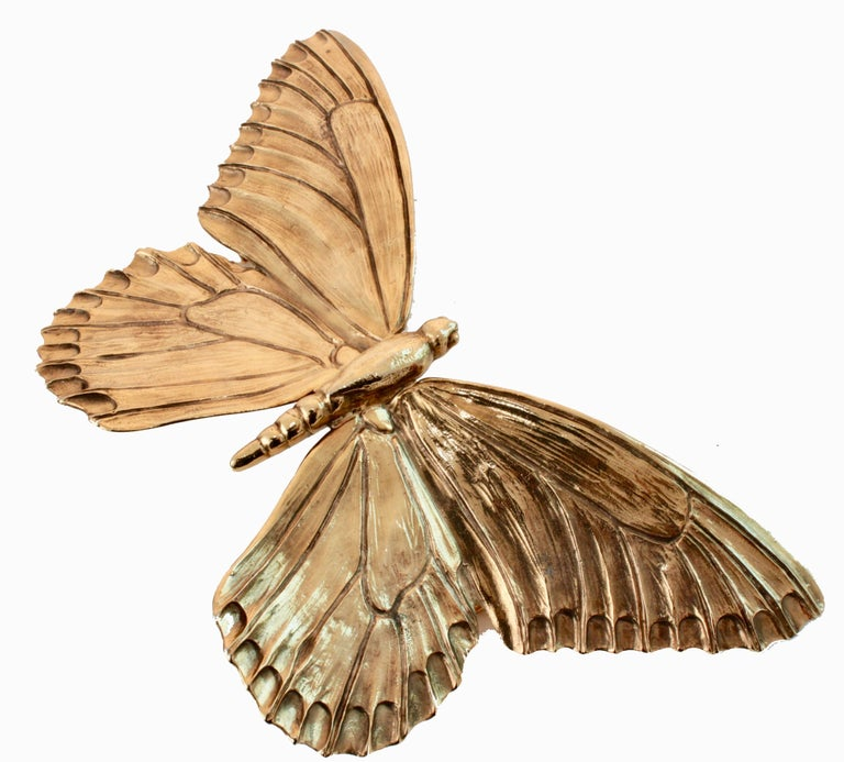 Christopher Ross Butterfly Belt Buckle 24ct Gold Plate Monumental 8in Long 80s 3
