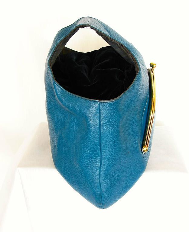 Bonnie Cashin for Coach Mod Blueberry Leather XL Tote Bag ...