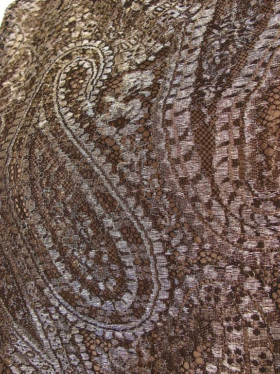 Chanel Metallic Paisley Lace & Silk Shell Top 2013 Collection Size 38 6