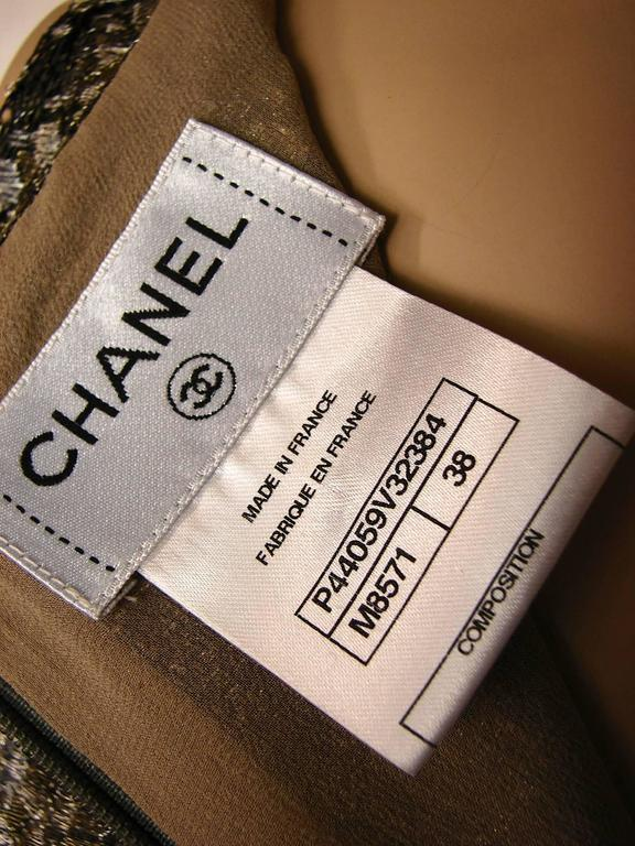Chanel Metallic Paisley Lace & Silk Shell Top 2013 Collection Size 38 8