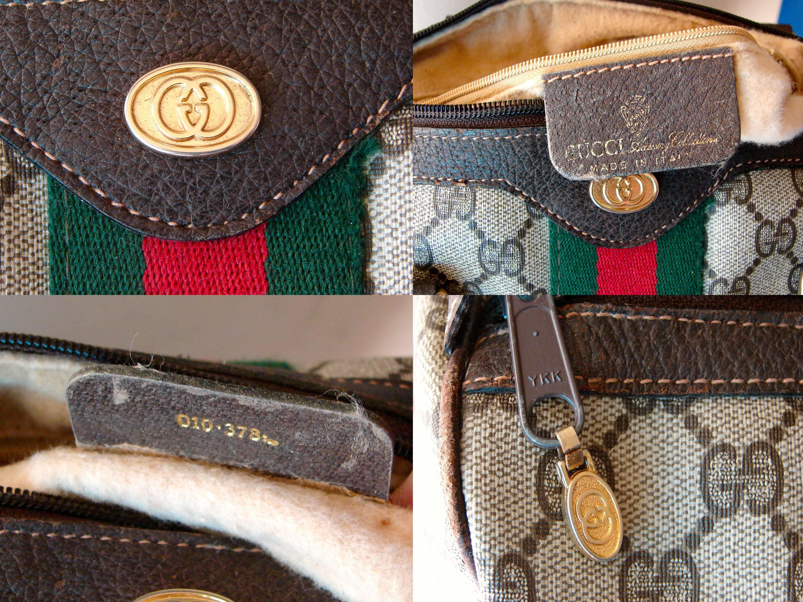 Gucci Speedy Satchel Boston Bag Brown Leather Monogram Canvas Web 1970s At 1stdibs