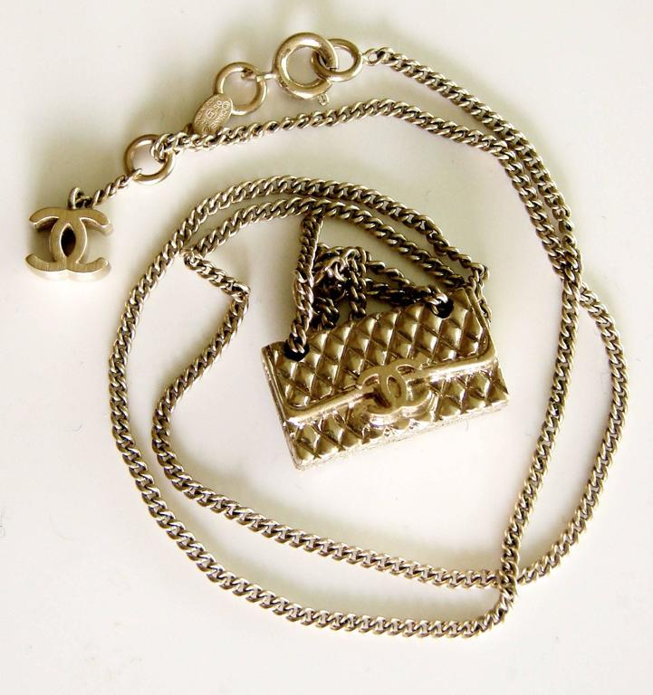 7a023dbdf8b4e4 Contemporary Chanel Gold Charm Necklace 2.55 Matelasse Flap Bag with CC  Logo 05A Collection For Sale