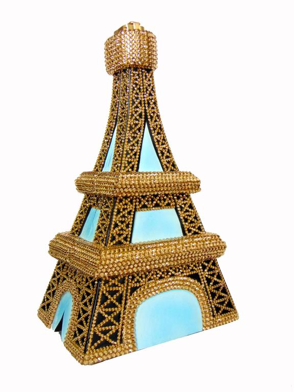 Timmy Woods Beverly Hills Embellished Eiffel Tower Bag Limited Edition Signed  For Sale 2
