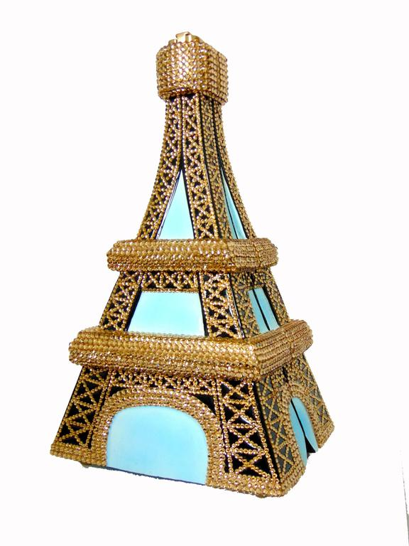 Timmy Woods Beverly Hills Embellished Eiffel Tower Bag Limited Edition Signed  For Sale 1
