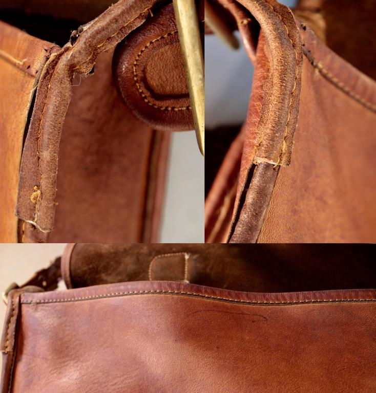 Rare Coach Leatherware Swag Bag Distressed Leather Satchel Briefcase 70s NYC  8