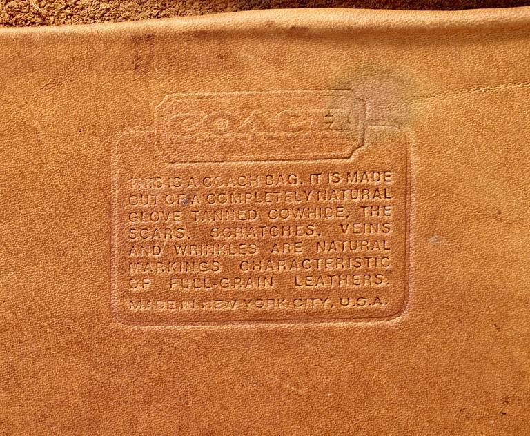 Rare Coach Leatherware Swag Bag Distressed Leather Satchel Briefcase 70s NYC  For Sale 2