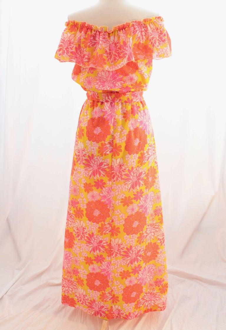 Lilly Pulitzer Liza Ruffle Maxi Dress With Belt Off