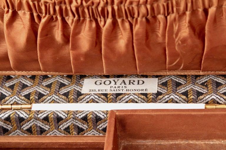 Goyard Paris Vanity Train Case Mini Trunk Beauty Bag Carry On Vintage 1960s  For Sale 5