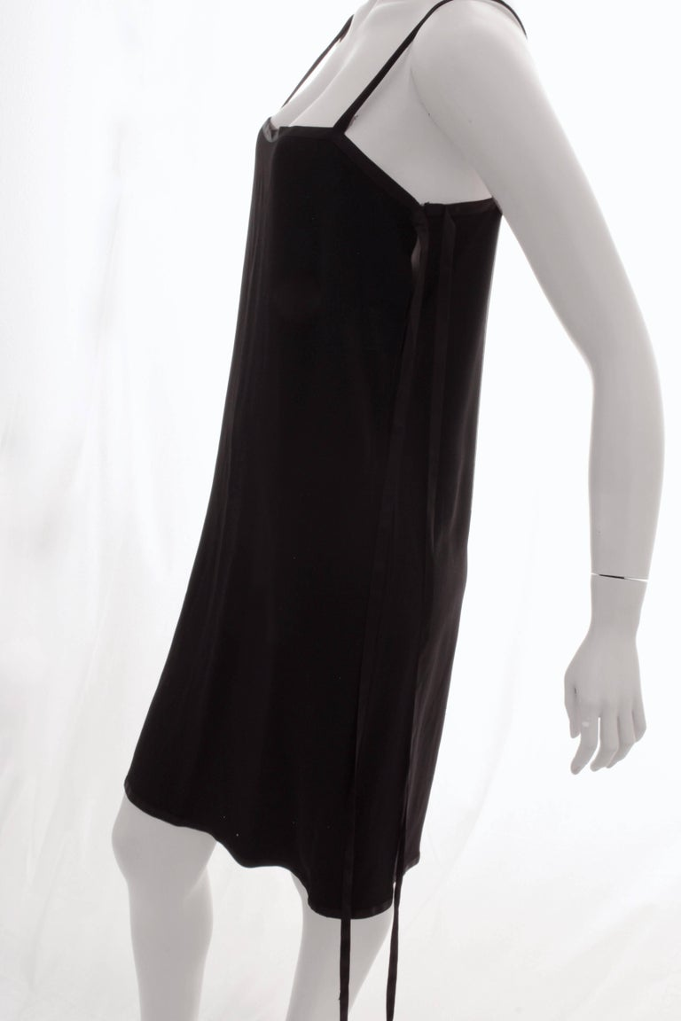 Yves Saint Laurent Cocktail Dress Black Crepe with Wrap Ties YSL Rive Gauche 40 For Sale 5