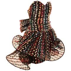 Unique Confetti Bow Cocktail Dress by Tomasz Starzewski Bergdorf Goodman 6 90s