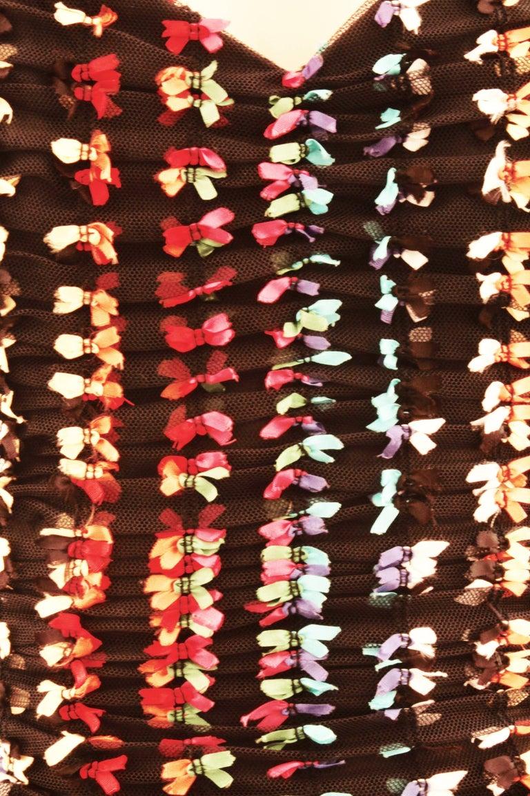 Unique Confetti Bow Cocktail Dress by Tomasz Starzewski Bergdorf Goodman 6 90s For Sale 3