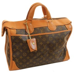 Louis Vuitton Monogram Tote Bag Carry On Keepall Luggage French Company 70s