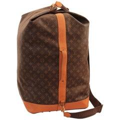 Louis Vuitton Monogram Sac Marin Large Duffle Bag XL Travel Tote Vintage 90s