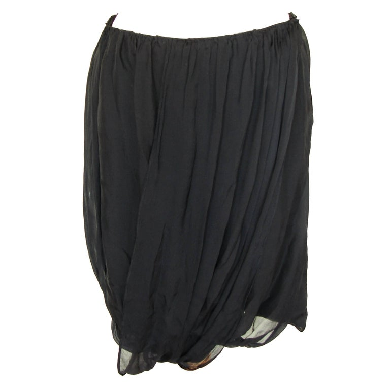 Tom Ford Gucci Black Silk Draped Skirt 2002 Collection