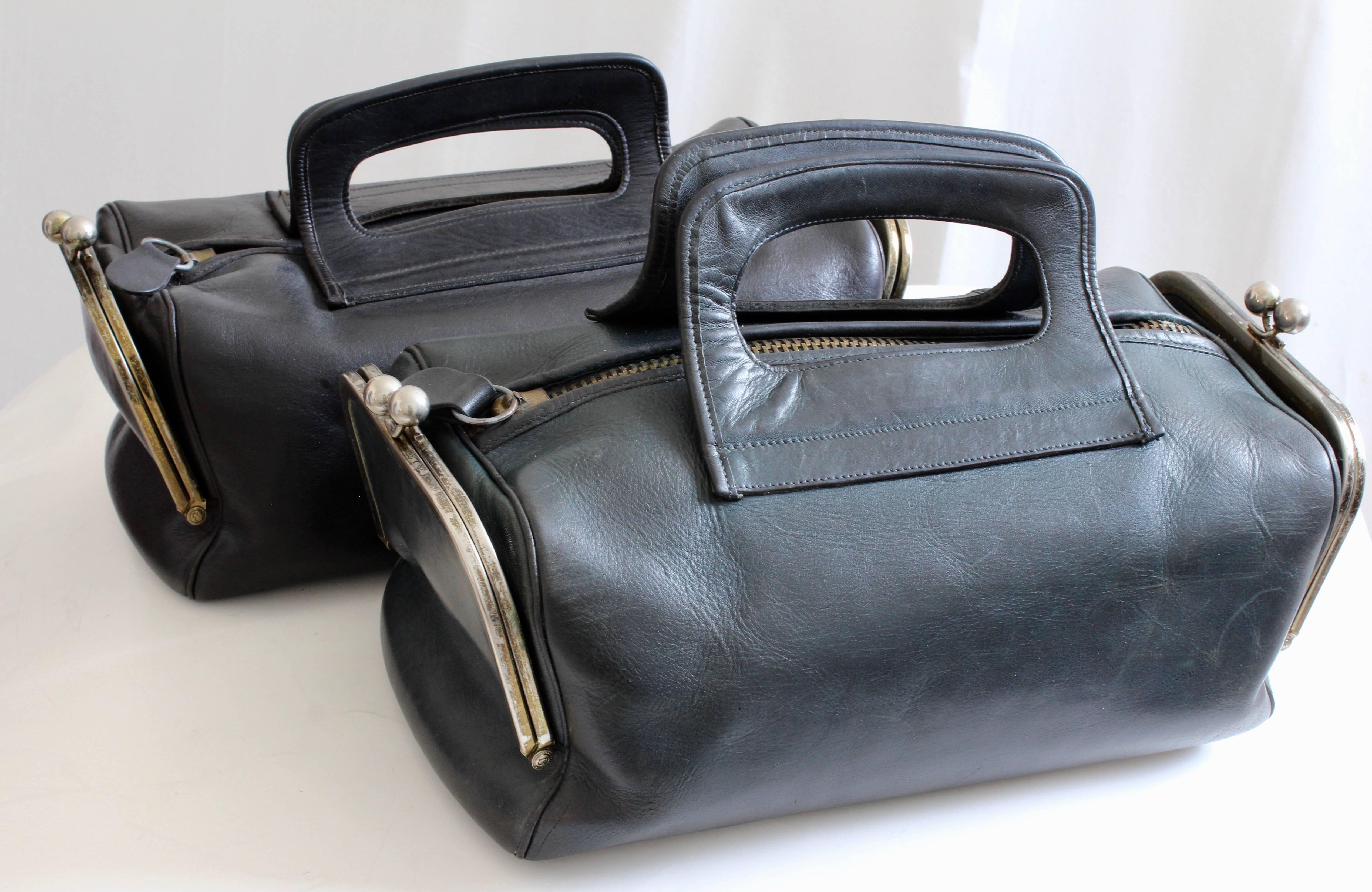 f32787605a ... cheap bonnie cashin for coach leather tote bag double header kiss lock  rare 1960s for sale