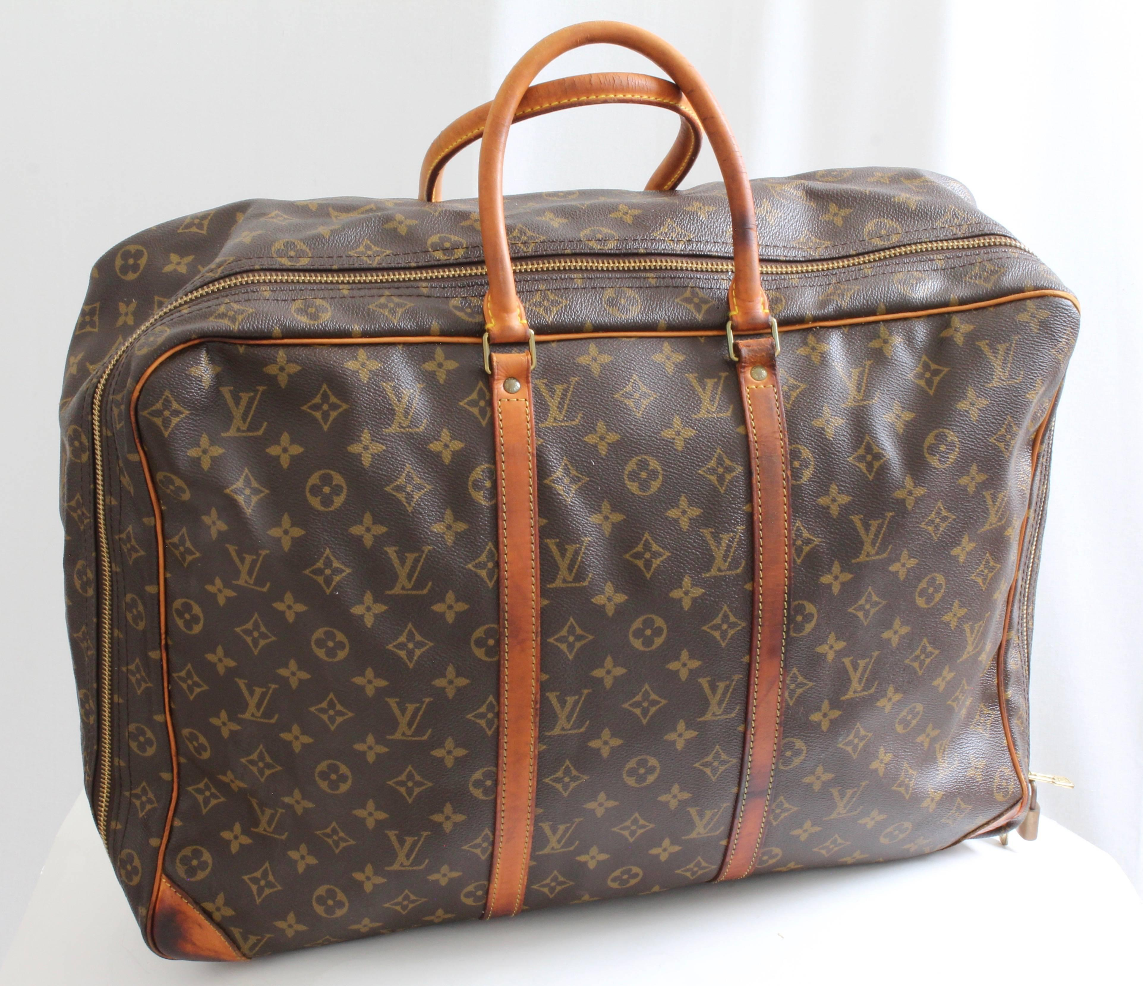 Louis Vuitton Monogram Sirius Suitcase 50cm Luggage Weekender Travel Bag  80s For Sale at 1stdibs 08e2a8394a