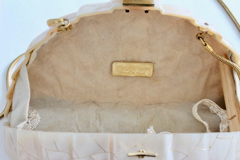 Rare Saks Fifth Avenue Mosaic Clutch Evening Bag with Rhinestone Accents  1960s For Sale 3