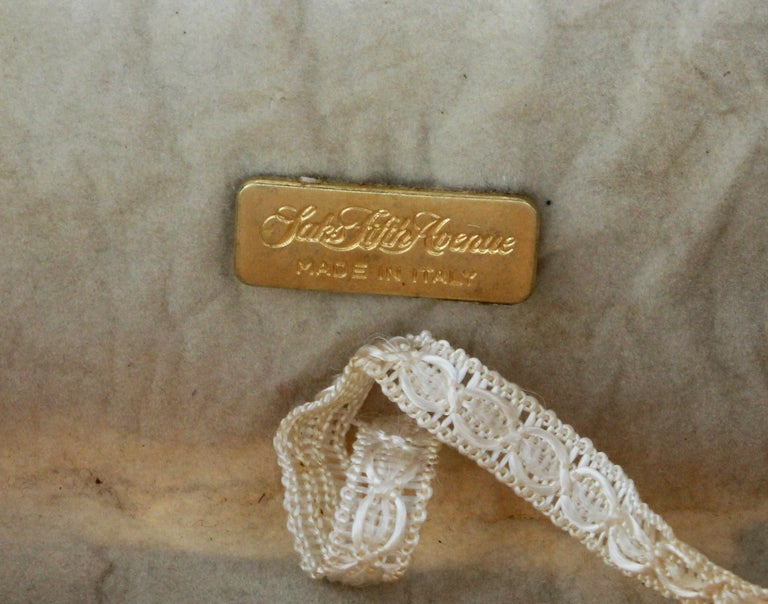 Rare Saks Fifth Avenue Mosaic Clutch Evening Bag with Rhinestone Accents  1960s For Sale 4