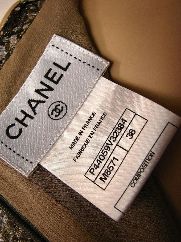 143c5b965f49e Chanel Silk Blouse Sleeveless Metallic Paisley Scalloped Lace Shell Top Sz  38 For Sale 1