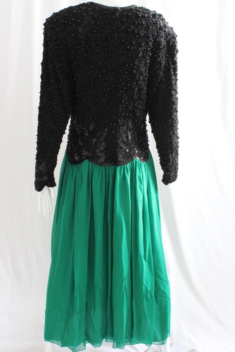 Naeem Khan Riazee Evening Gown Silk Chiffon Skirt Formal L For Sale 1