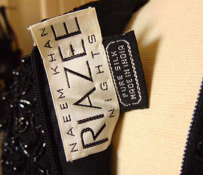 Naeem Khan Riazee Evening Gown Silk Chiffon Skirt Formal L For Sale 4