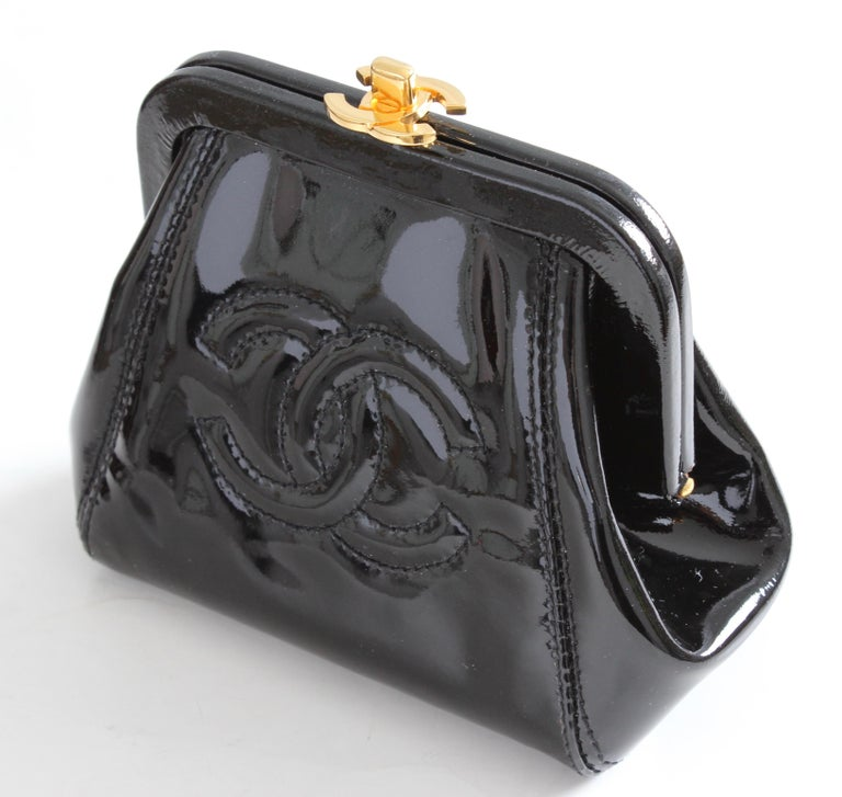 ca9c41c39384 Here's a pretty little patent leather coin purse or small clutch from Chanel,  made in