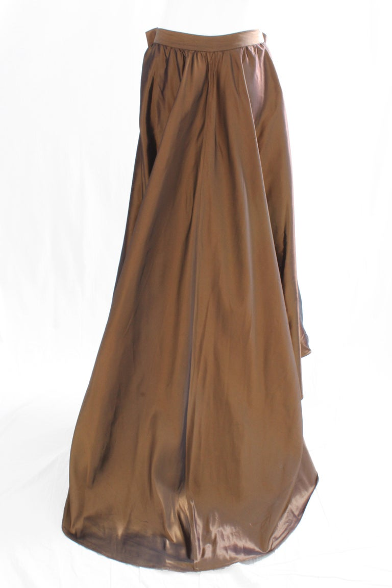 Women's Vicky Tiel Attributed Formal Wrap Skirt with Large Bow and Ruffle Detail  For Sale