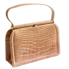 Deitsch Alligator Bag New Old Stock + Comb, Mirror, Coin Purse Saks 5th Ave 40s