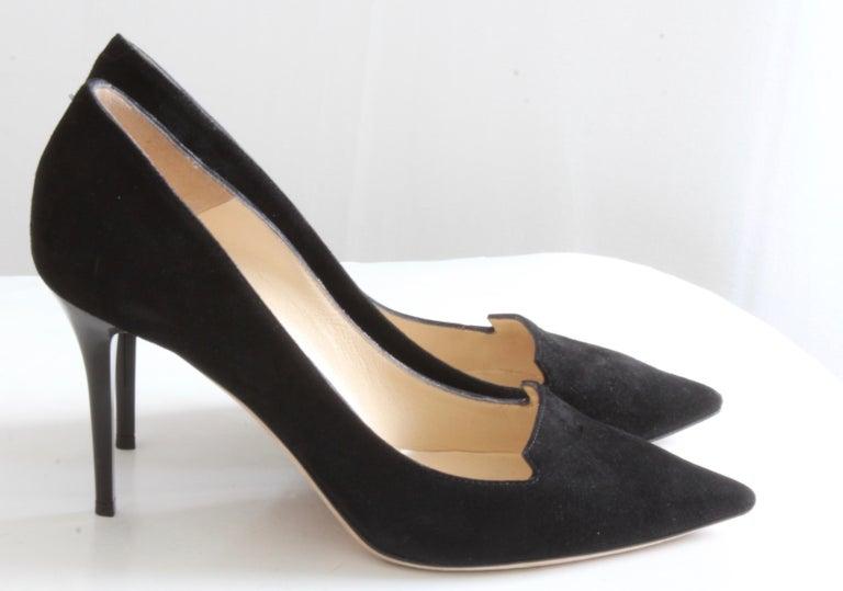44baa7e4e1 Jimmy Choo Black Stiletto Pumps 247 Alia Suede in Box In Good Condition For  Sale In