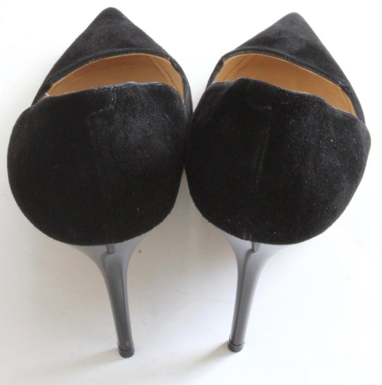 e2c4373190 Jimmy Choo Black Stiletto Pumps 247 Alia Suede in Box For Sale at ...