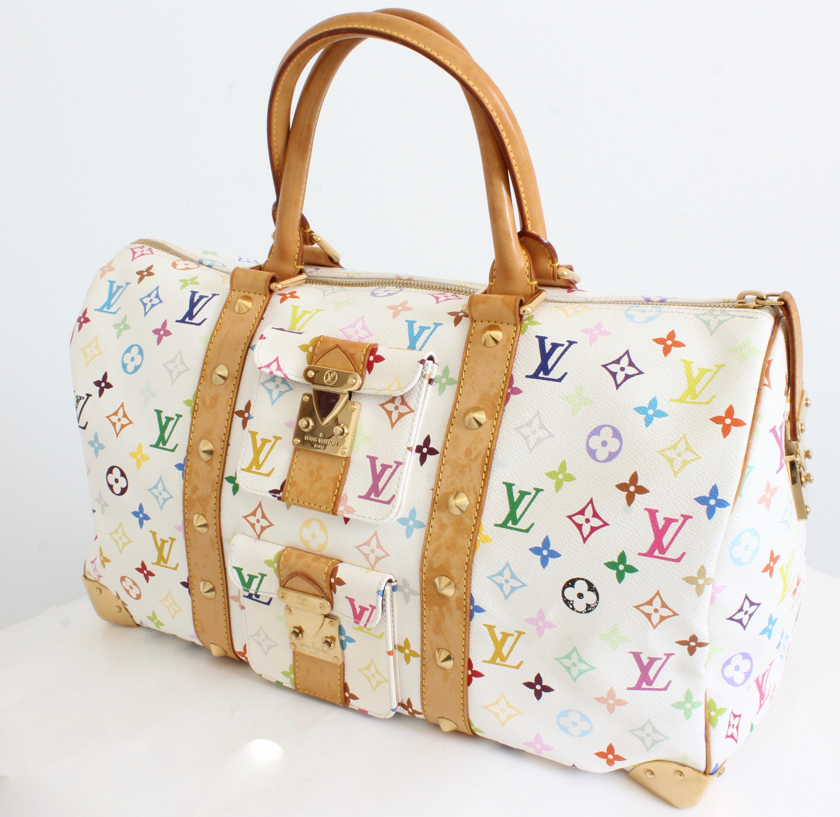 439eaa0317ef Louis Vuitton Multicolore Monogram Keepall 45cm Duffle Bag Travel Tote  Spring 03 For Sale at 1stdibs