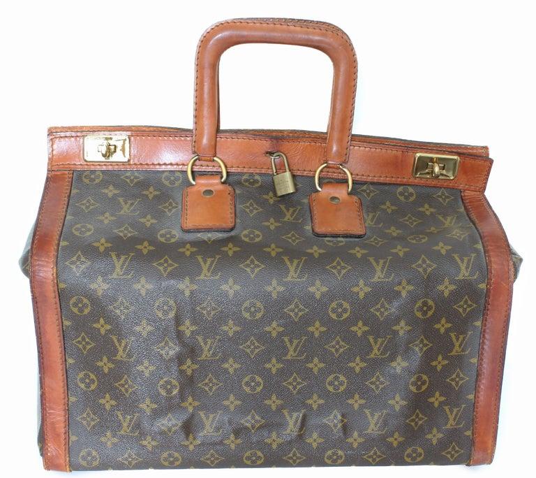 2786da8008d Rare Louis Vuitton Doctors Bag Steamer Tote Keepall Vintage 50s Monogram  Canvas