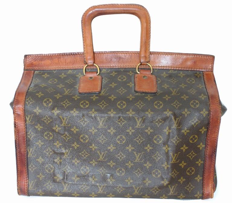 dff50c8fe088 Women s or Men s Rare Louis Vuitton Doctors Bag Steamer Tote Keepall Vintage  50s Monogram Canvas For