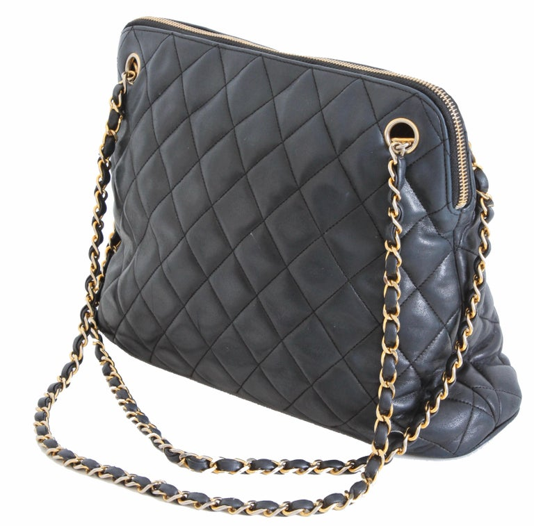 492577f18017 Gray Iconic Chanel Shoulder Bag Lambskin Matelasse Leather Chain Straps +  Dust Bag For Sale