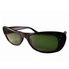 Paulette Guinet Black Sonnenbrille Seltenes Modell Hergestellt in Frankreich, Dead Stocks, 1960er Jahre