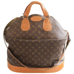Louis Vuitton By The French Company Large Steamer Bag Monogram Travel Tote 1970s