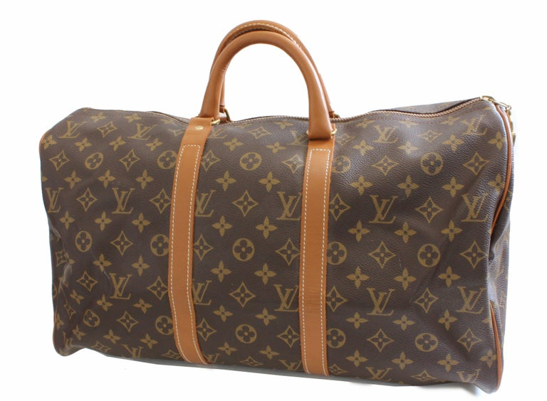cc84ce889bed Brown Louis Vuitton by The French Company Monogram Keepall Bag Travel  Duffle 45cm For Sale