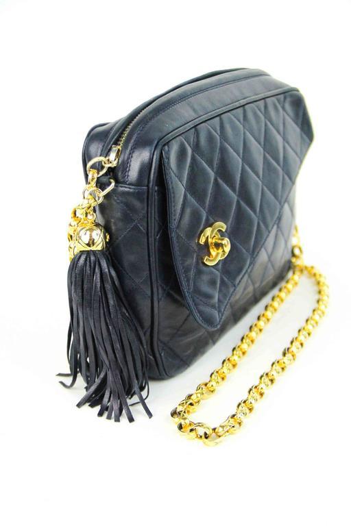 Vintage Chanel Camera Bag Tassel Zip At 1stdibs