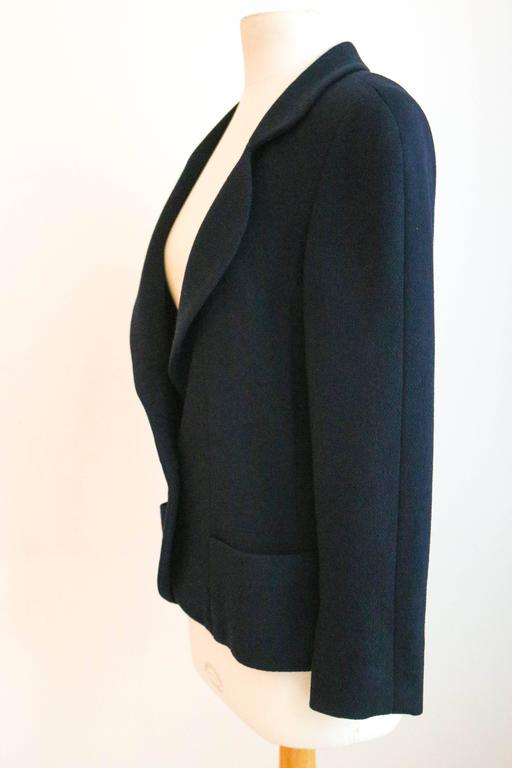 CHANEL Classic Navy Blazer with Logo Button 36 2