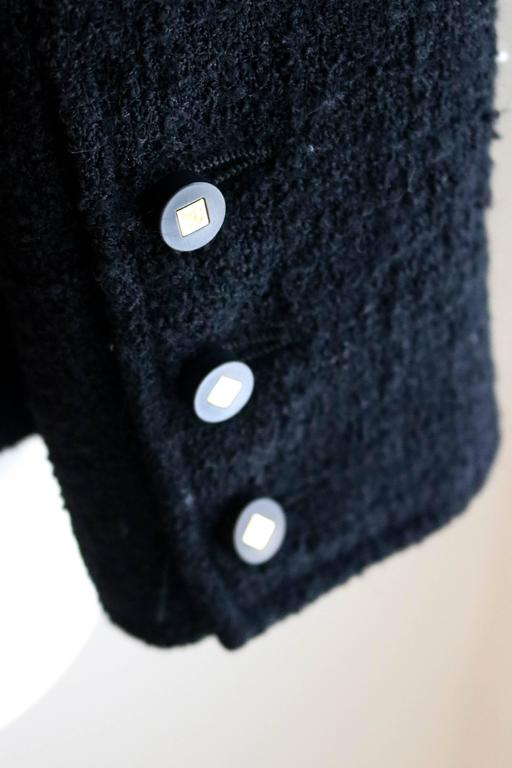 CHANEL 1990's Classic Wool Boucle Blazer 38 7