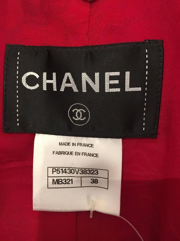 Chanel purple/fuchsia short sleeve coat 4
