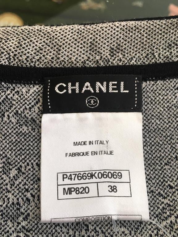 CHANEL Black/White Printed CC Dress size 38 7