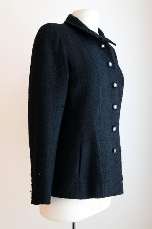 CHANEL 1990's Classic Wool Boucle Blazer 38 2