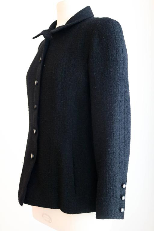 CHANEL 1990's Classic Wool Boucle Blazer 38 4