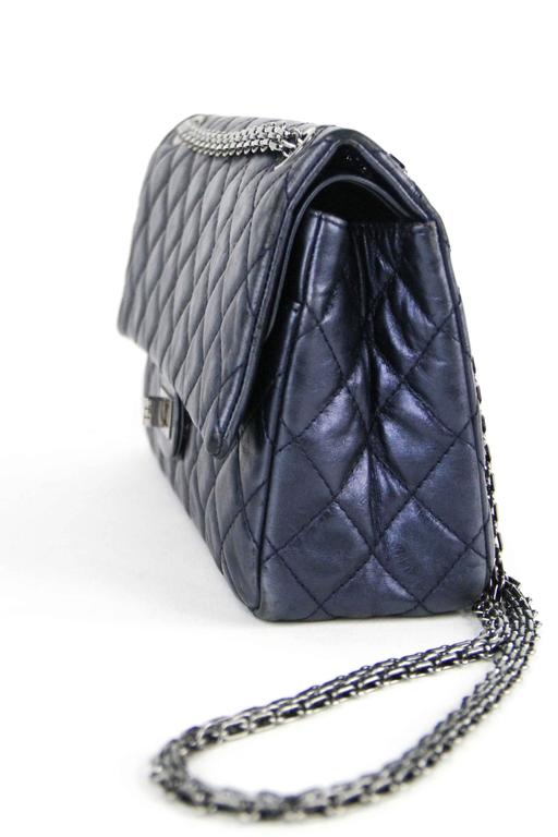 CHANEL Navy 226  Reissue Double Flap  2