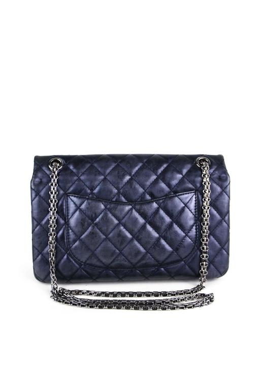 CHANEL Navy 226  Reissue Double Flap  3