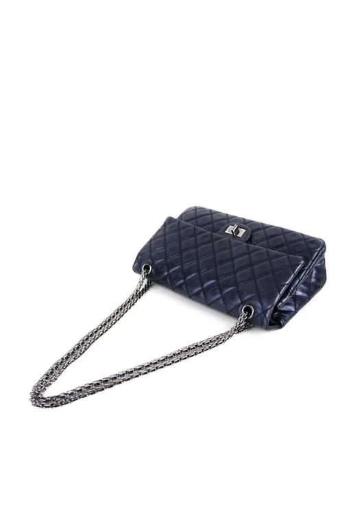CHANEL Navy 226  Reissue Double Flap  4